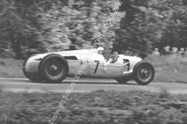 Auto Union C Type V16 Hasse Donington Gp 1937 Coppice Corner B