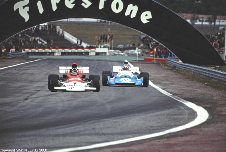 Brm P180 And Matra Ms120 Spainish Gp 7x5 Colour Photo