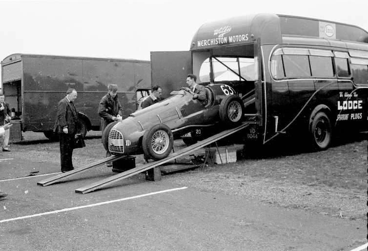 Lewis Auto Sales >> Ferrari 166 V12 David Murray s car being driven out of the Ecurie Ecosse transporter. Winfield 1951